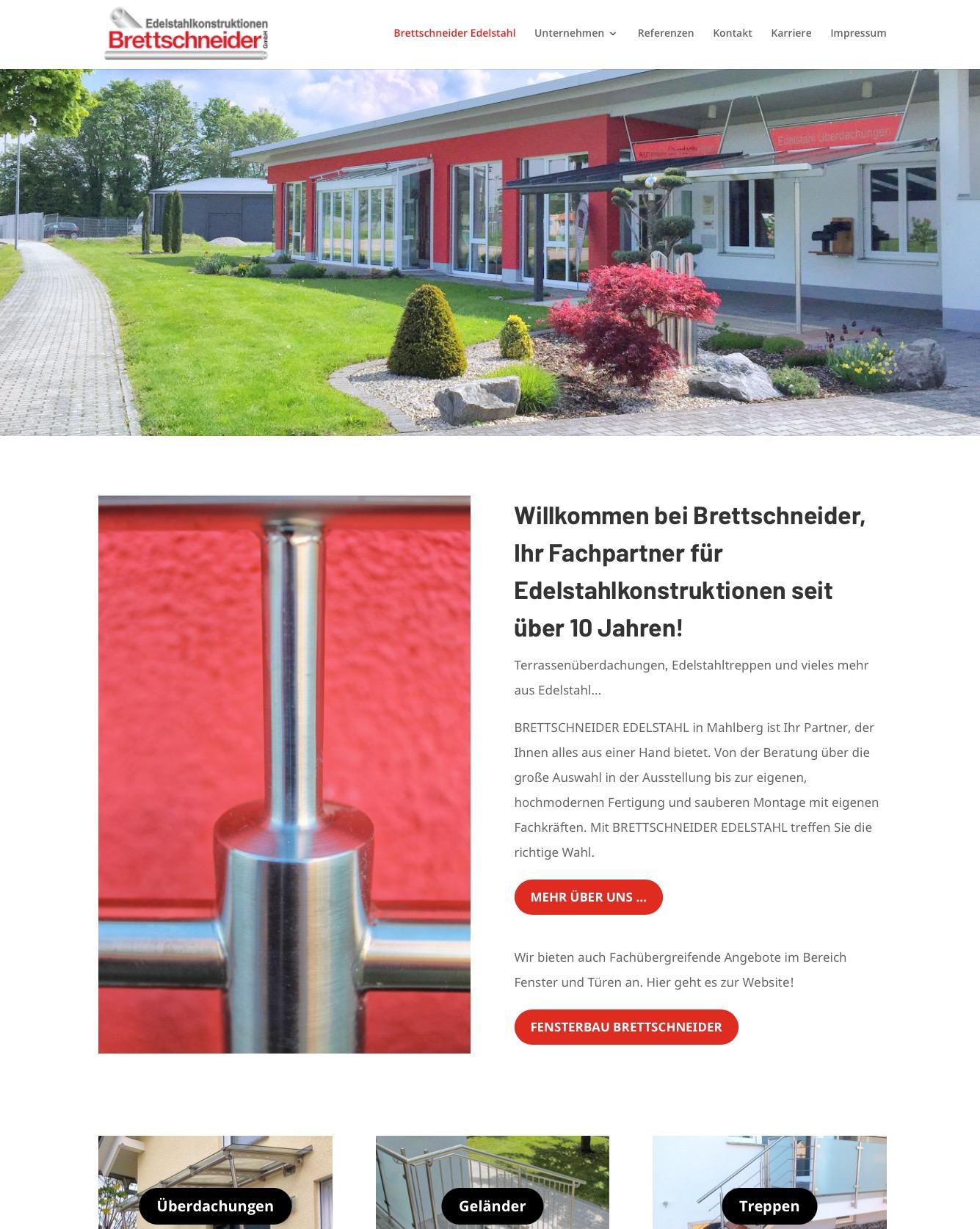 Brettschneider Edelstahl Webseite